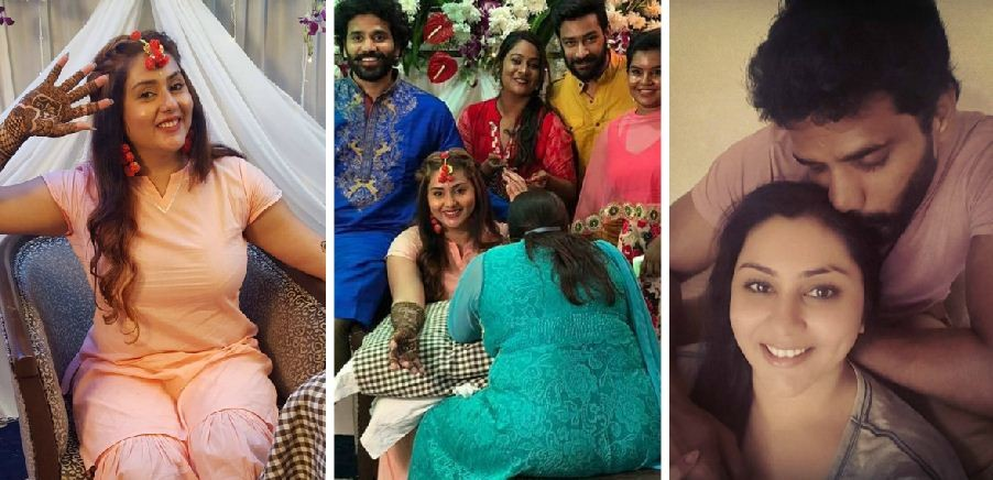 Namitha\u0027s wedding celebrations kick,off; take a look at the