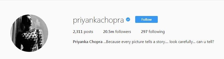 Priyanka Chopra Instagram followers