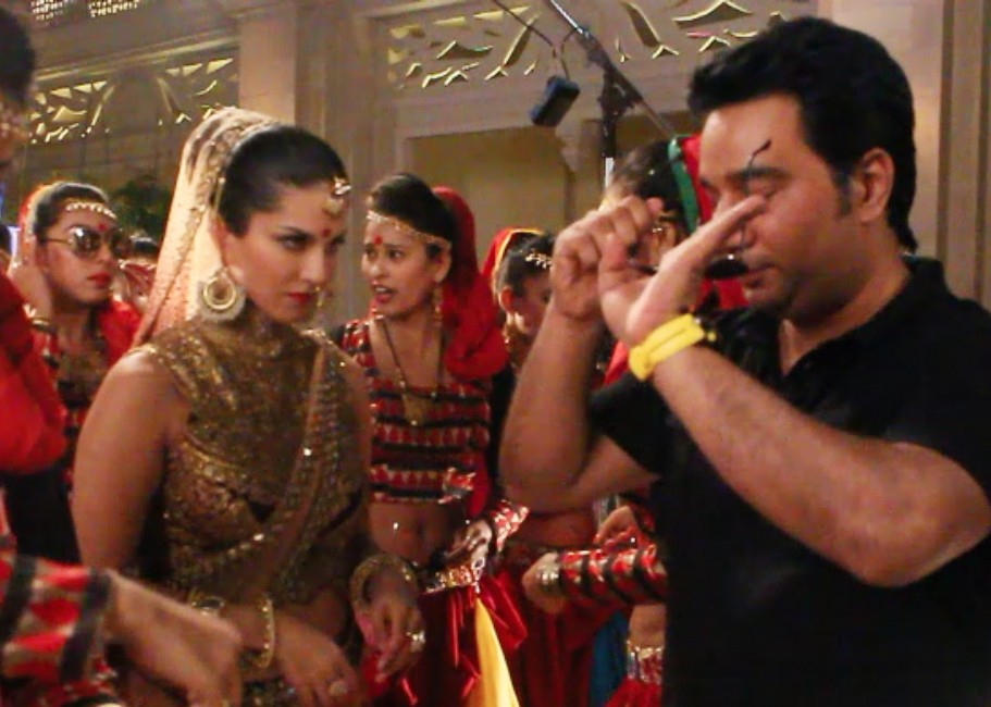 Ahmed Khan Teaches Sunny Leone The Iconic Rajinikanth Step in Pictures