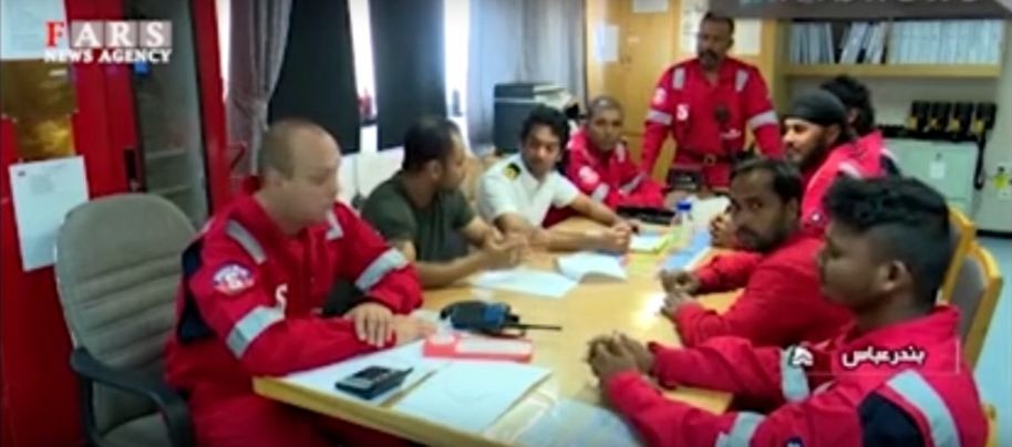 Stena Impero-crew members