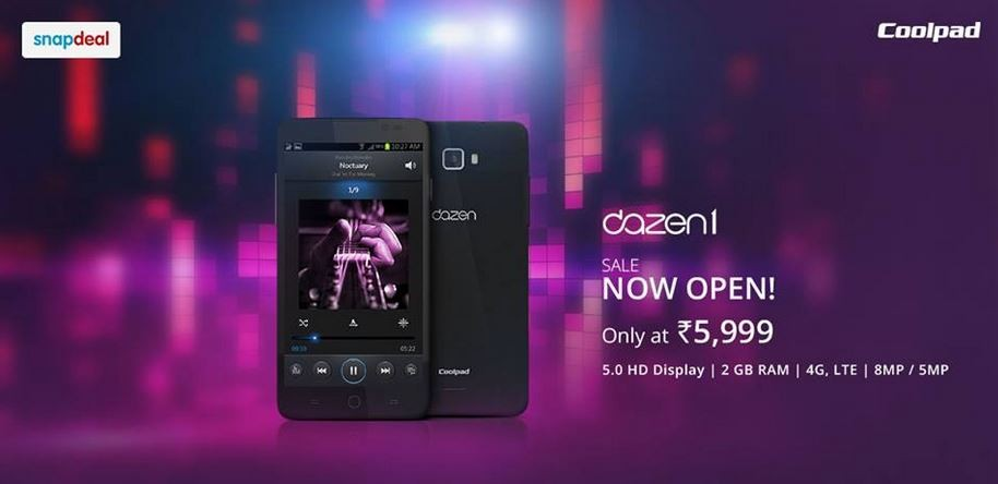 Coolpad Dazen 1 Sandstone Black Variant Launched in India