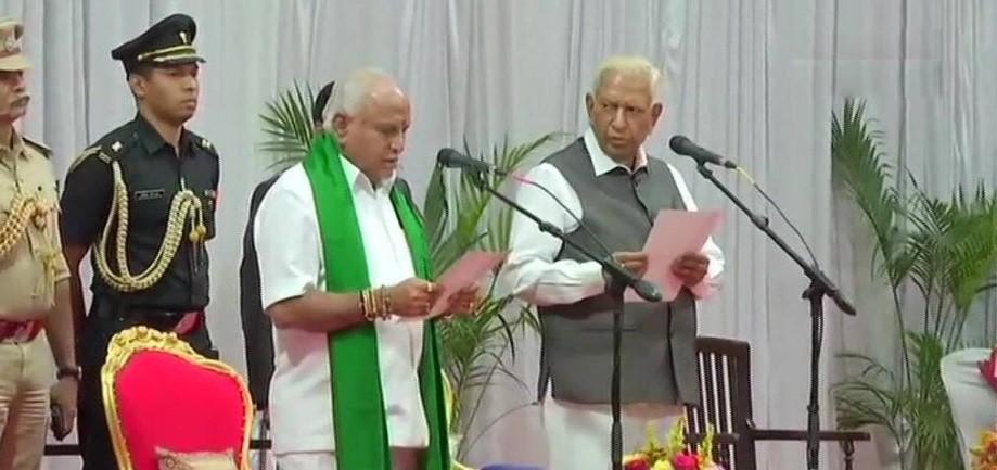 BS Yediyurappa sworn-in as the chief minister of Karnataka on 26 July 2019