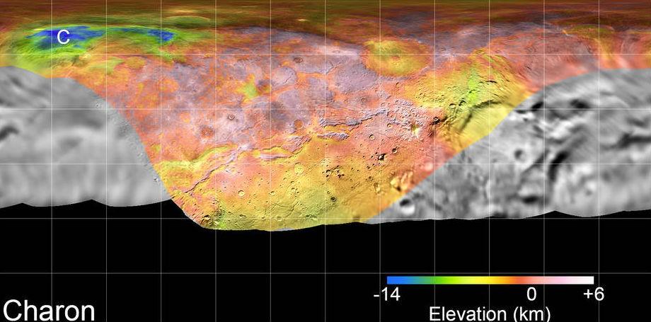 NASA,Pluto,Charon,Pluto map,Charon Map,Pluto flyby,NASA,largest moon