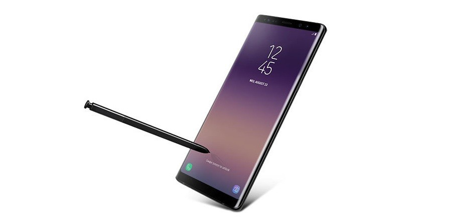 Samsung Galaxy Note 8 as seen on its official website