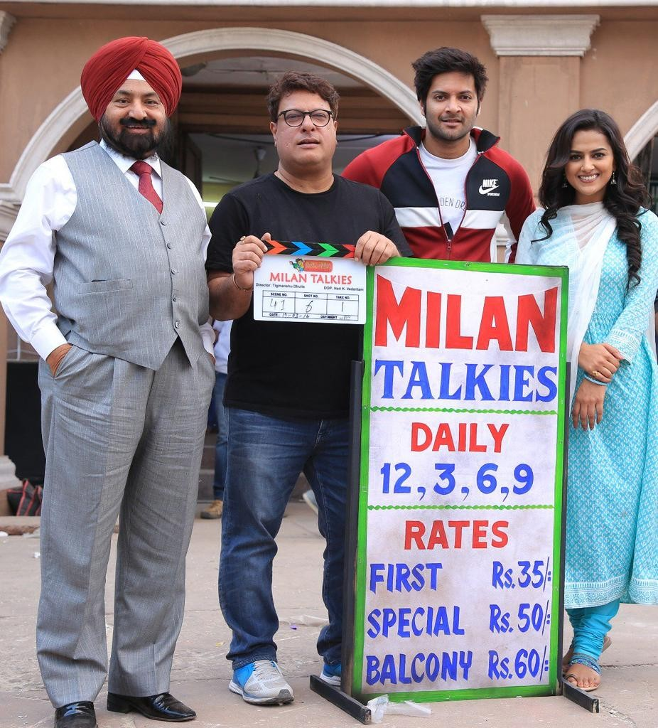 Tigmanshu Dhulia,Milan Talkies,Milan Talkies movie launch,Milan Talkies movie pooja,Ali Fazal,Shraddha Srinath,Reecha Sinha,Deep Raj Rana