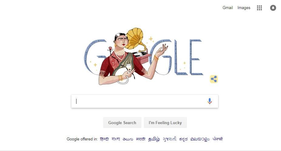 Gauhar Jaan,Gauhar Jaan's 145th birth anniversary,artist Gauhar Jaan,Gauhar Jaan birthday,Google Doodle