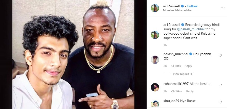 Andre Russell, Palash Muchhal,