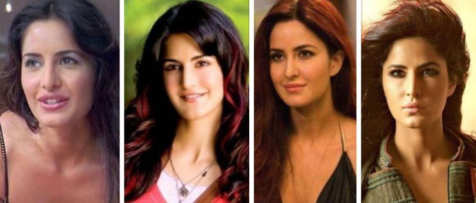 Katrina Kaif then and now