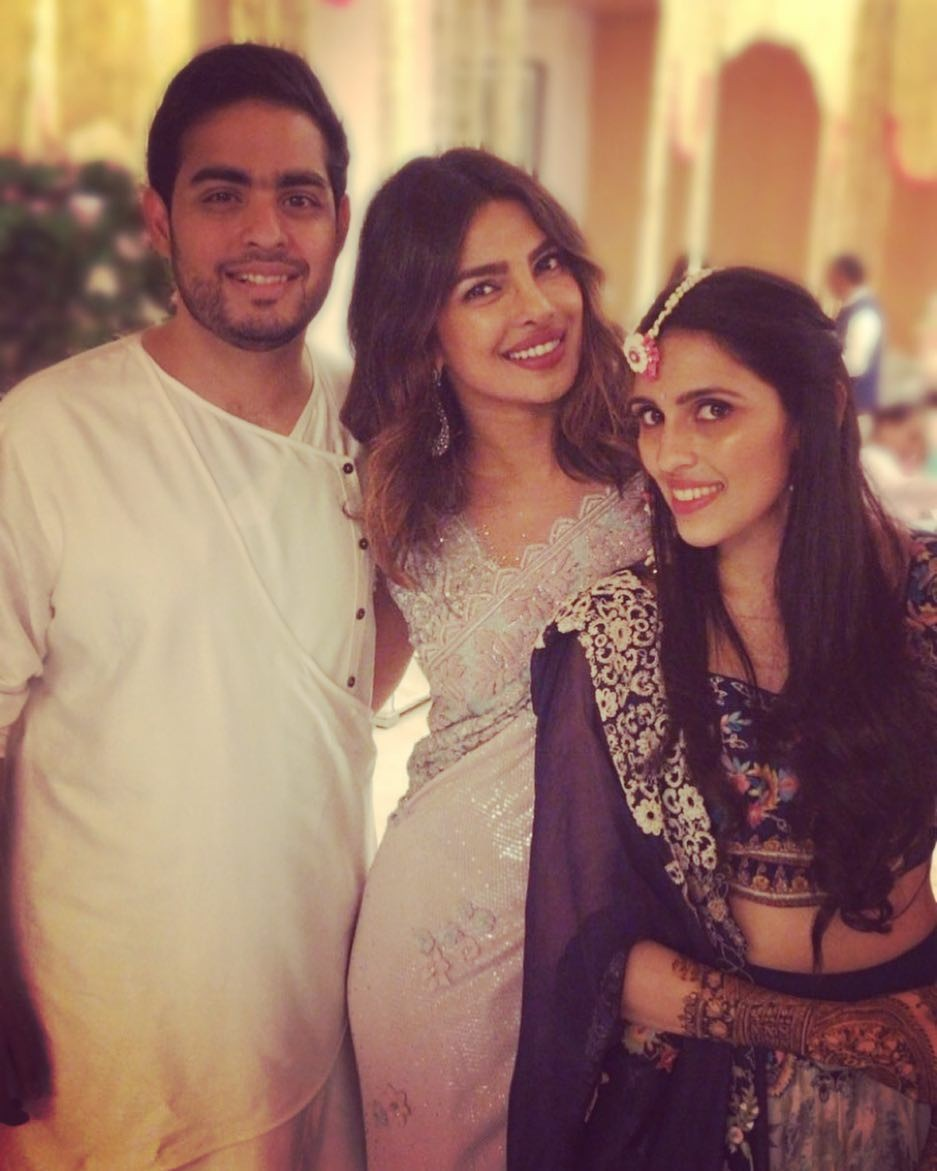 Akash Ambani-Shloka Mehta mehendi ceremony,Akash Ambani-Shloka Mehta wedding,Akash Ambani and Shloka Mehta,Akash Ambani and Shloka Mehta mehendi ceremony,Priyanka Chopra with Nick Jonas,Priyanka Chopra and Nick Jonas,Priyanka Chopra and Nick Jonas pics,Pr