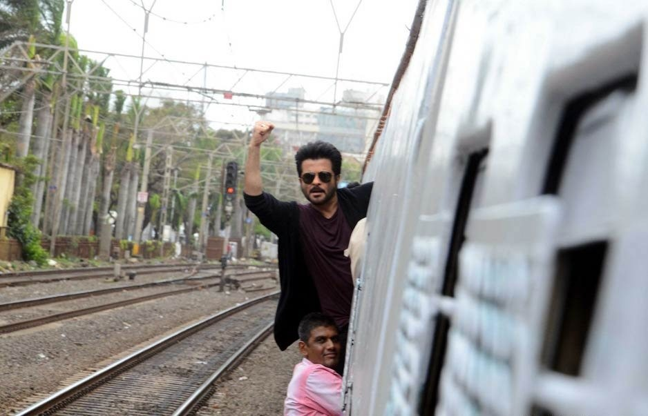 Veteran actor Anil Kapoor took a local train from Churchgate here to promote his forthcoming TV drama series