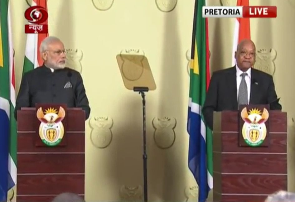 India and S Africa,India and South Africa,Prime Minister Narendara Modi,Narendara Modi,Narendara Modi in South Africa,Narendara Modi and Jacob Zuma,Jacob Zuma,Modi