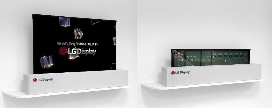 LG, rollable, OLED TV, features, CES 2018