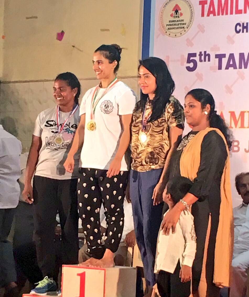 VJ-actress Ramya,Ramya,Ramya Subramanian,Ramya Subramanian wins bronze,weightlifting competition,State Level Benchpress