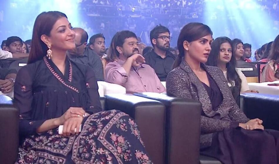 Samantha at Mersal audio launch,Kajal Aggarwal at Mersal audio launch,Samantha and Kajal Aggarwal,Samantha,Kajal Aggarwal,Mersal audio launch,Mersal audio launch pics,Mersal audio launch images,Mersal audio launch stills,Mersal audio launch pictures,Mersa