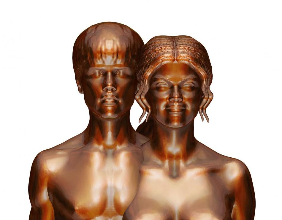 Justin Bieber, Selena Gomez Nude Statue Created by Controversial Artist Daniel Edwards.