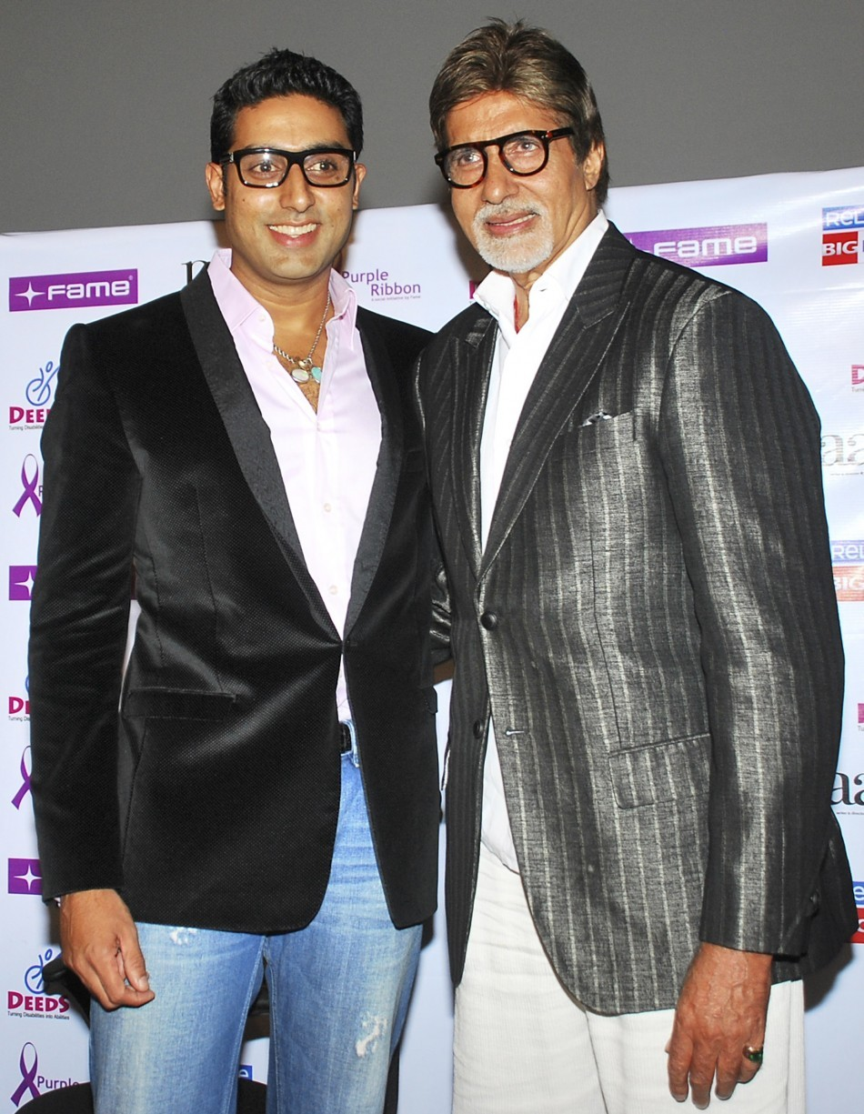 Abhishek and Amitabh Bachchan