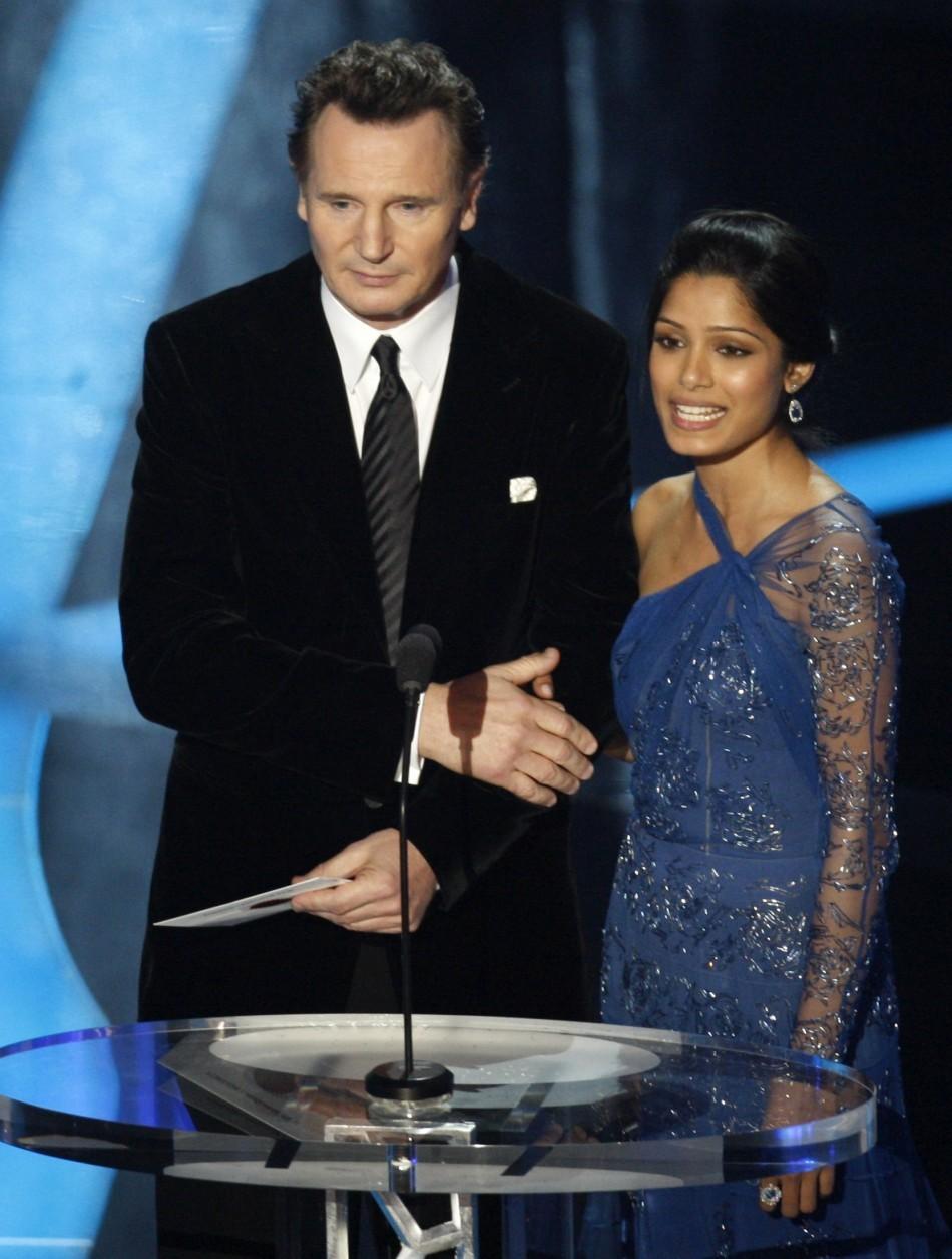 Liam Neeson and Freida Pinto
