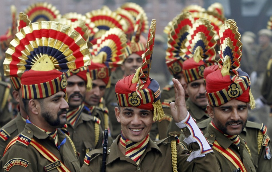 Indian soldiers on Parade