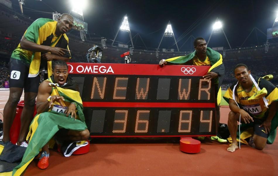 Usain Bolt, Yohan Blake, Nesta Carter, Michael Frater