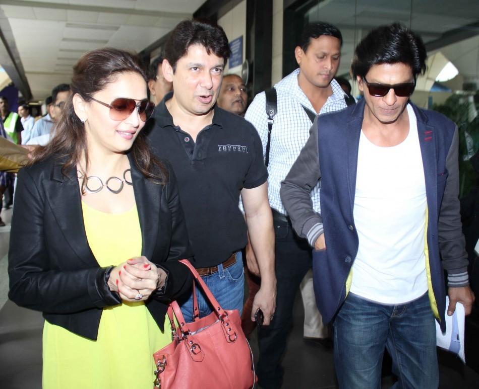 Shah Rukh Khan, Mahuri Dixit,Shriram Nene