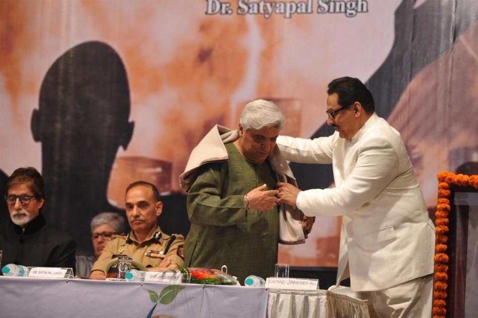 Amitabh Bachchan, Javed Akhtar, Jayant Patil,Satyapal Singh