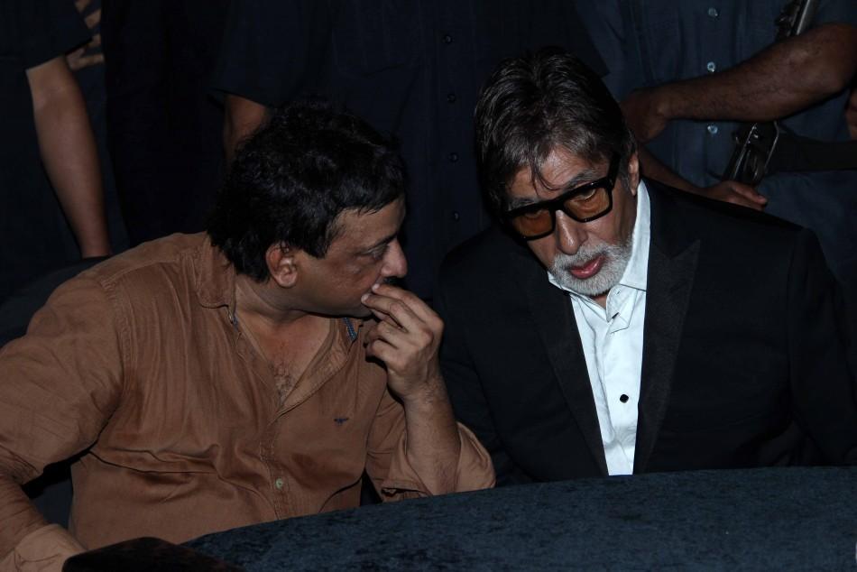 Amitabh Bachchan and Ram Gopal Varma at the party