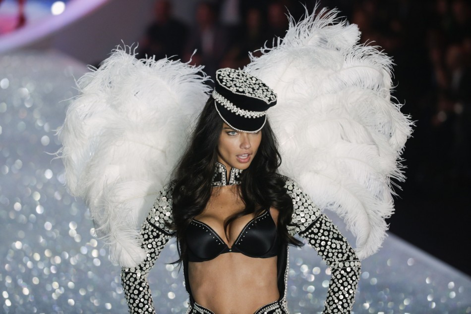 Model Adriana Lima presents a creation during the annual Victoria's Secret Fashion Show in New York