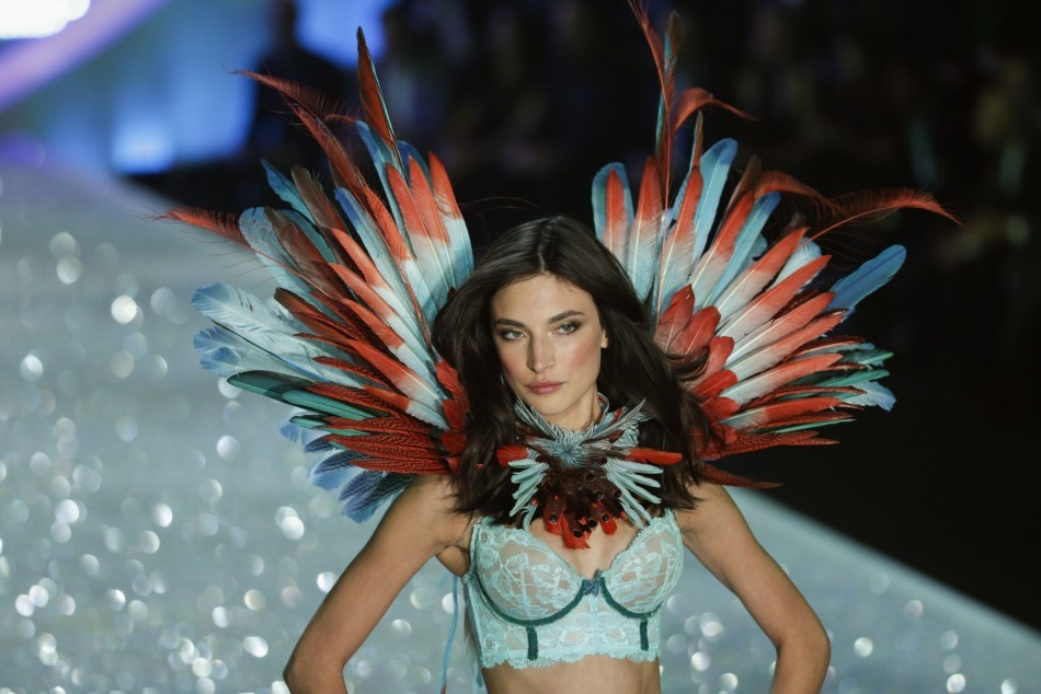 Model presents a creation during the annual Victoria's Secret Fashion Show in New York