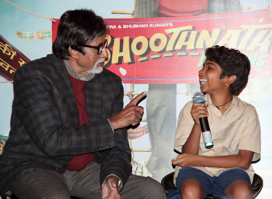 Amitabh Bachchan at the trailer launch of 'Bhoothnath Returns'
