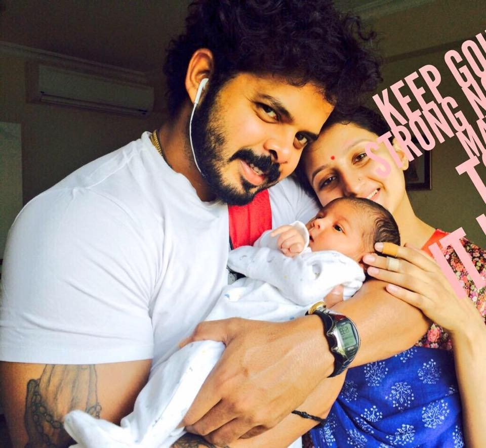 Sreesanth,Sreesanth daughter,sreesanth daughter photos,Sreesanth daughter name