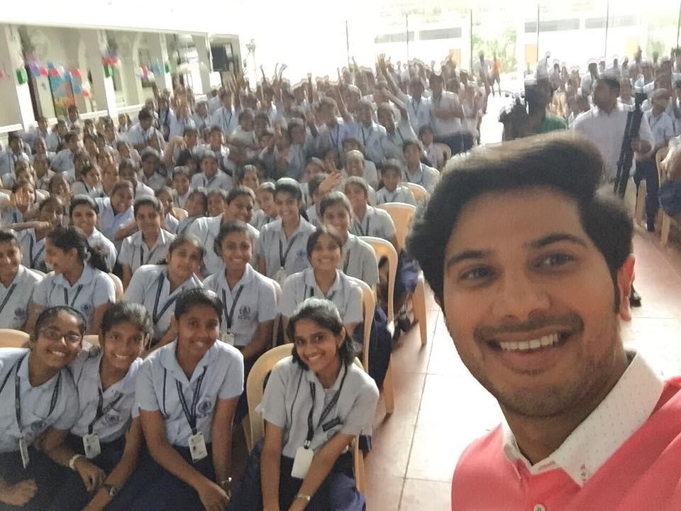 Dulquer Salmaan,Dulquer Salmaan in Rajagiri school,Dulquer Salmaan at rajagiri