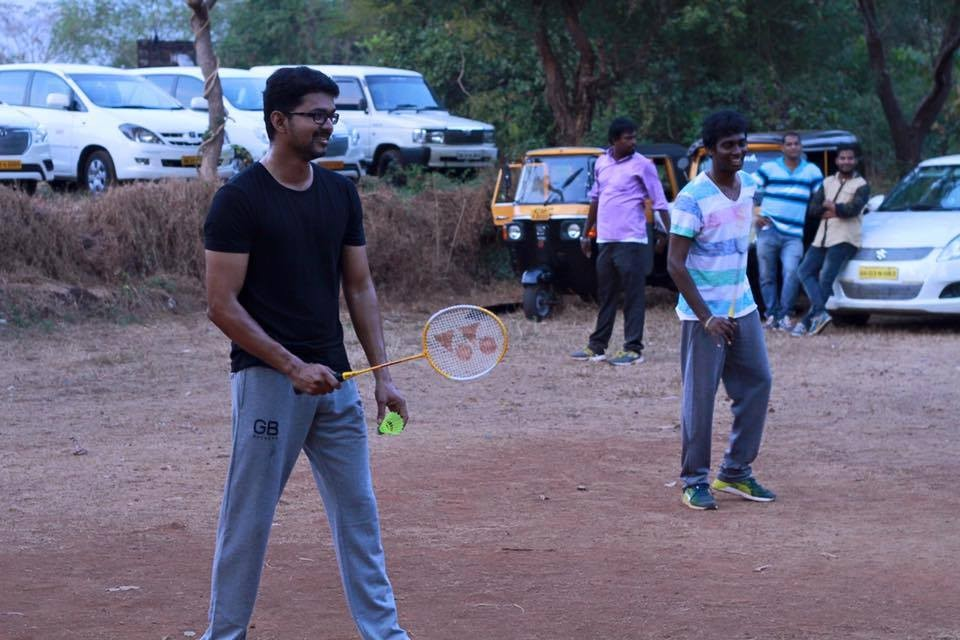Vijay59,ilayathalapathy vijay,Vijay and Atlee playing Badminton,Vijay playing Badminton,Vijay Badminton,Atlee playing Badminton,Vijay 59 Shooting Spot,Vijay 59 Shooting pics,Vijay 59 Shooting images,Vijay 59 Shooting photos,Vijay 59 Shooting pictures