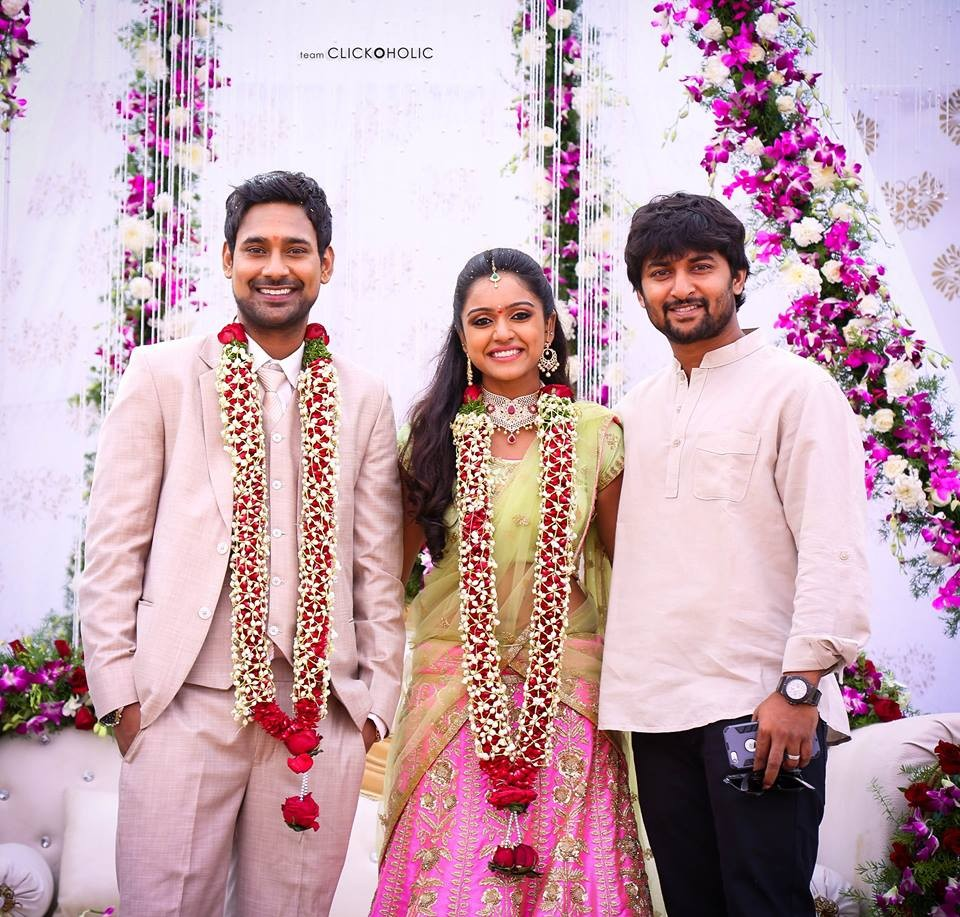 Varun Sandesh,Varun Sandesh Engagement,Vithika Sheru Engagement,Varun Sandesh Engagement pics,Varun Sandesh Engagement images,Varun Sandesh Engagement photos,Vithika Sheru Engagement pics,Vithika Sheru Engagement images,Nani,Nikhil Siddharth,Lakshmi Manch
