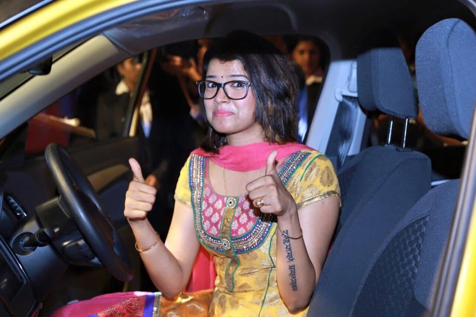 Amrutha Suresh,Maruti Brezza,vitara brezza,vitara brezza launch,maruti brezza launch,abhirami suresh