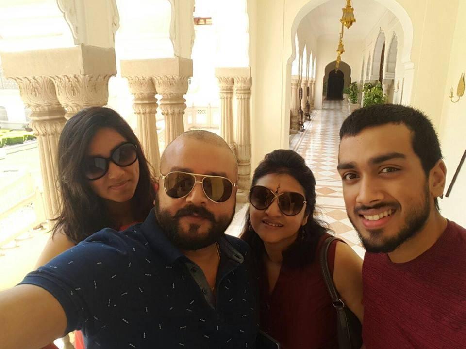 Jayaram,jayaram holidays in jaipur,jayaram in jaipur,jayaram trip with family,jayaram and kalidas jayaram