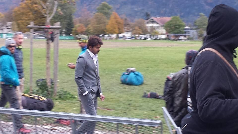 Ilayathalapathy Vijay,Keerthy Suresh,Vijay,Vijay in Switzerland,Bairavaa,Bairavaa song shoot,Bairavaa duet shoot,Bairavaa in Switzerland,Vijay and Keerthy Suresh,Vijay and Keerthy Suresh in Switzerland