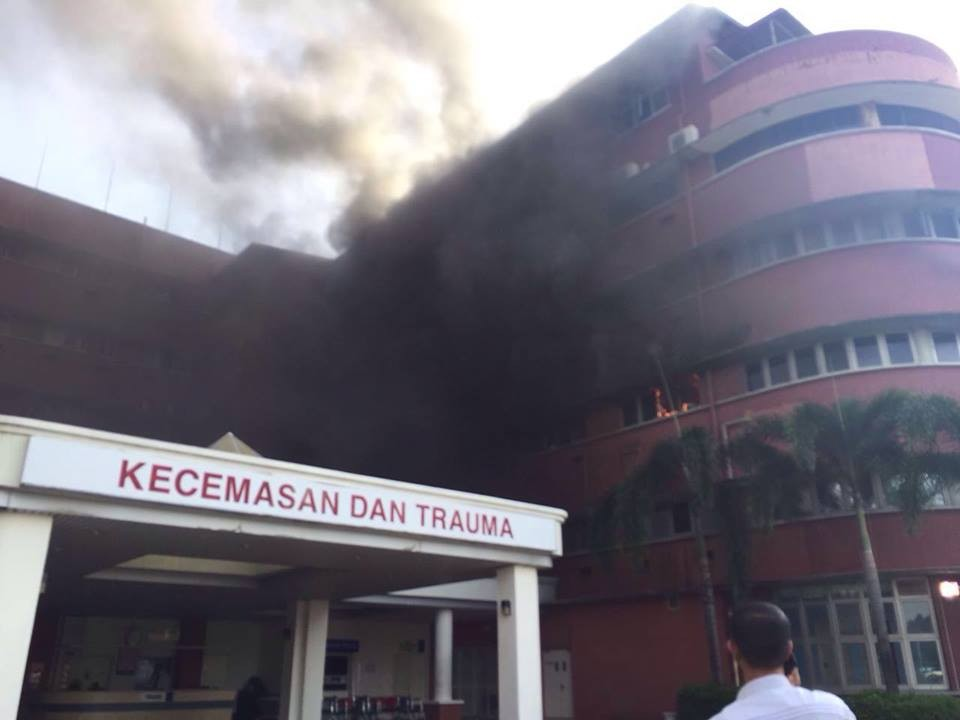 Six dead after fire breaks out at Sultanah Aminah Hospital in JB.