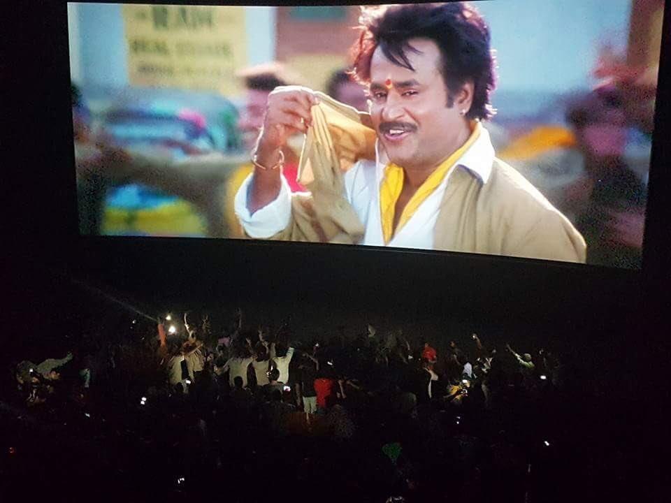Rajinikanth,Superstar Rajinikanth,Baashha,Baashha release,Baashha movie,Baashha movie celebrations,Baashha celebrations,Rajinikanth fans