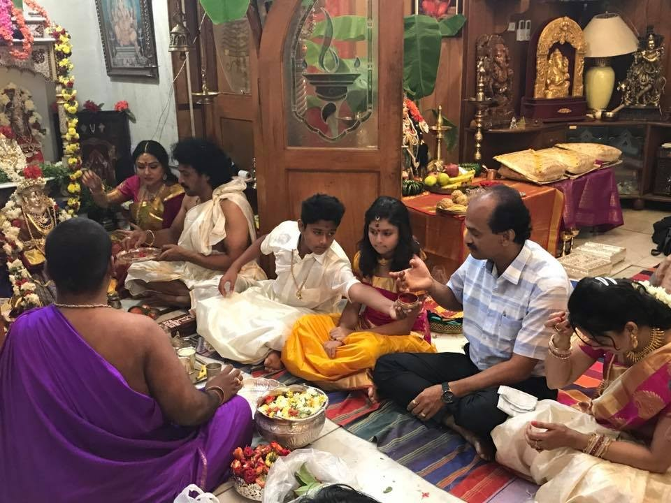 Varamahalakshmi festival,Varamahalakshmi festival celebration,Varamahalakshmi celebration,Upendra and Priyanka,Upendra,priyanka upendra