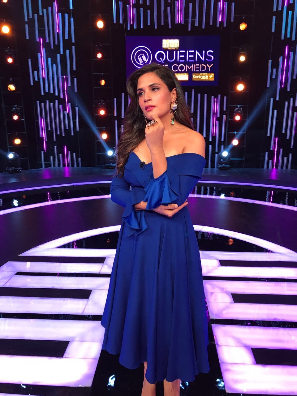 Richa Chadha,actress Richa Chadha,Richa Chadha at Queens of Comedy,Queens of Comedy,Richa Chadha dazzles in blue dress