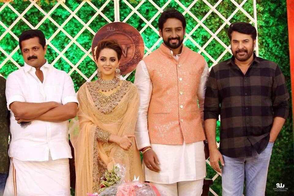 Mammootty,Bhavana,Bhavana marriage reception,Bhavana wedding reception,Bhavana reception,Bhavana reception pics,Bhavana reception images,Bhavana reception stills,Bhavana reception pictures