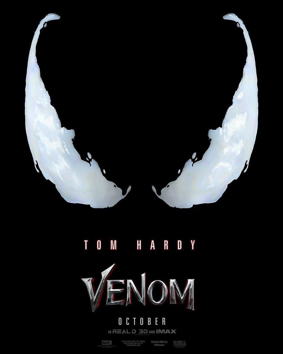 Tom Hardy,Venom first look poster,Venom first look,Venom poster,Venom movie poster,Michelle Williams,Riz Ahmed