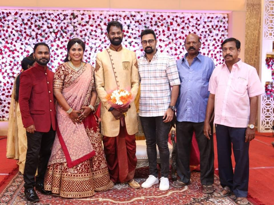 Vijay Sethupathi,Venkat Prabhu,Mohan Raja,KS Ravikumar,Ramesh Thilak and Navalakshmi,Ramesh Thilak,Navalakshmi wedding reception,Ramesh Thilak and Navalakshmi wedding reception pics,Ramesh Thilak and Navalakshmi wedding reception images
