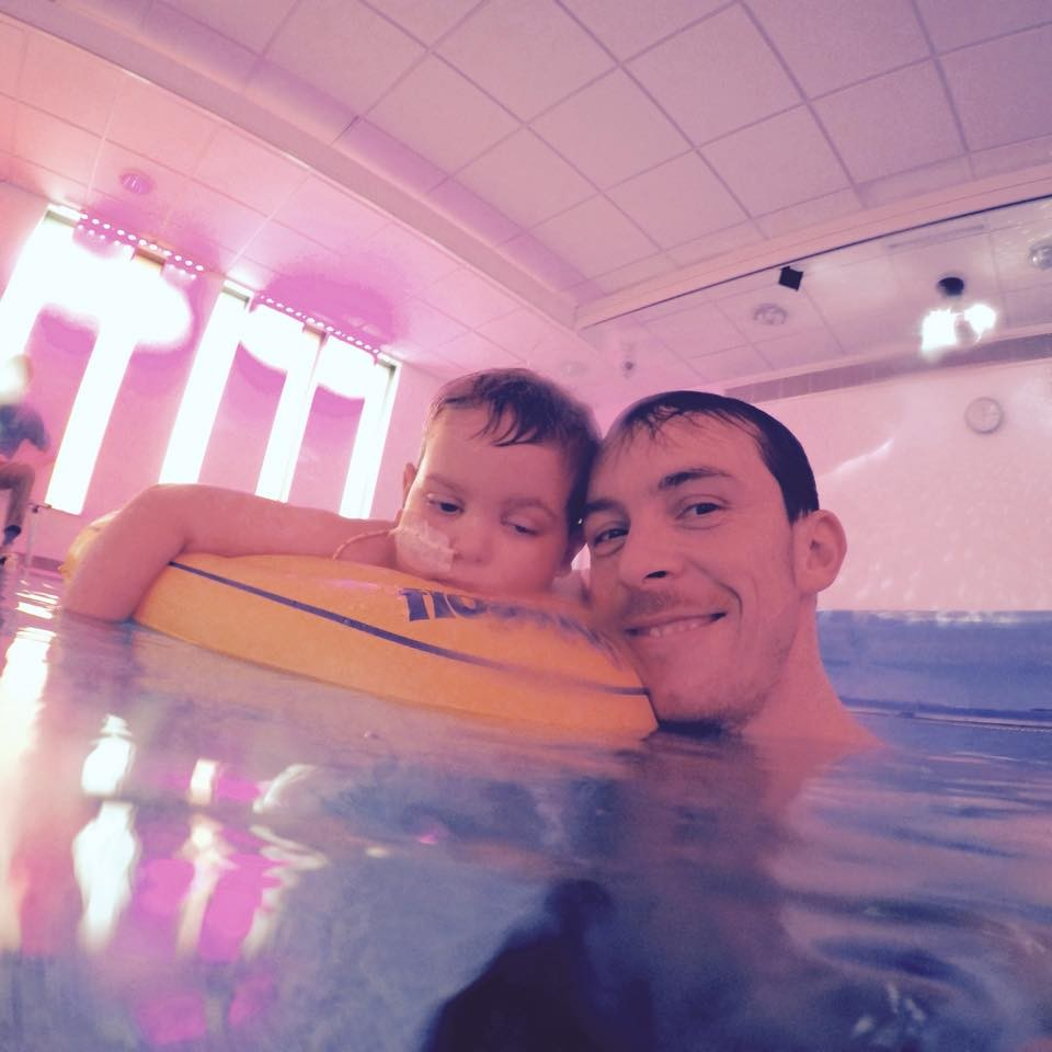 Jayden Wilson and his dad