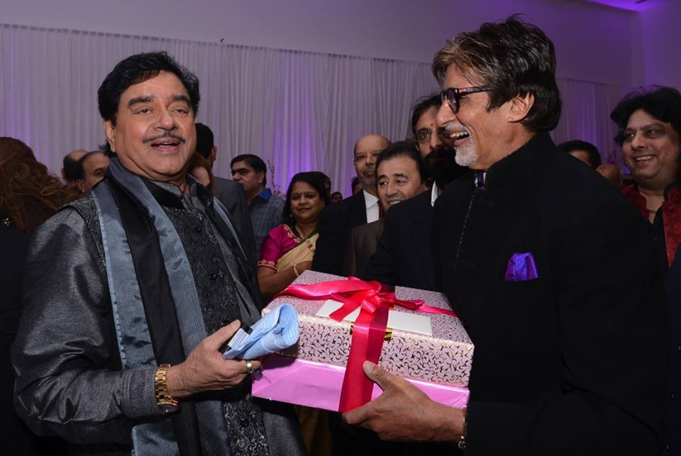 Shatrughan Sinha and Amitabh Bachchan