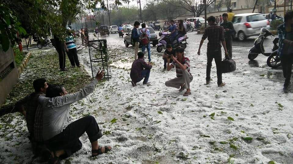 In Photos: Hail Storm Across India