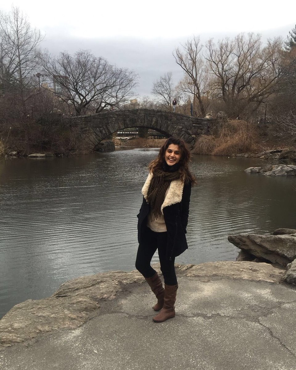 Actress Taapsee Pannu went on a getaway to the US as she wrapped up her first schedule of