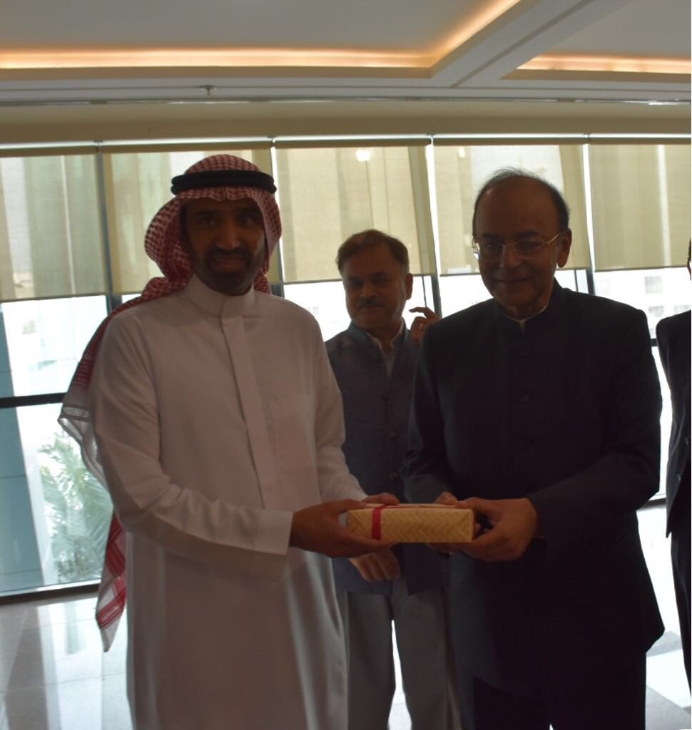 Arun Jaitley,Finance Minister Arun Jaitley,Abdulaziz Al-Saud,Saudi King Salman