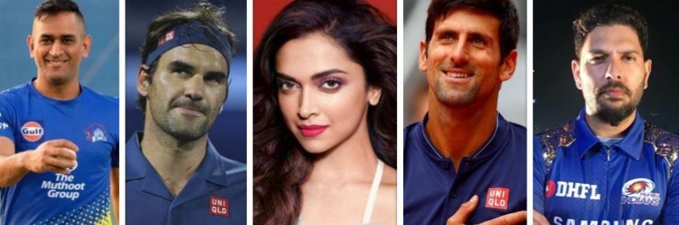 Sportspersons with Deepika Padukone
