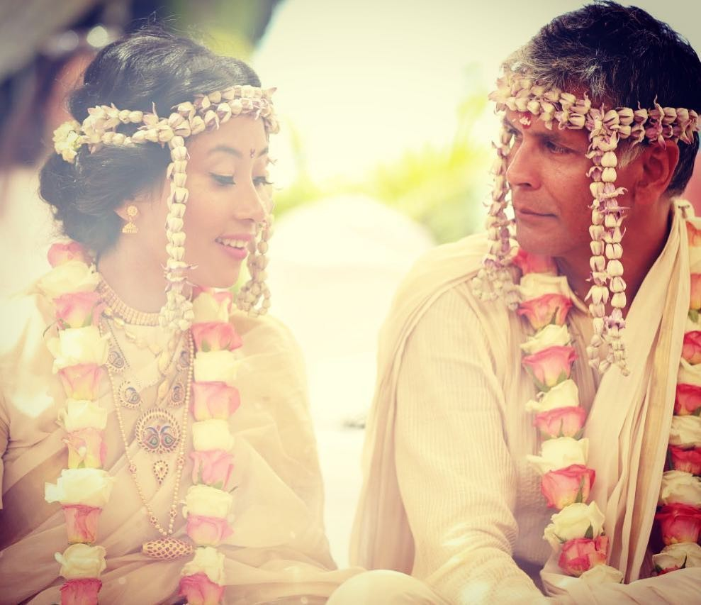Milind Soman,Milind Soman weds Ankita Konwar,Milind Soman and Ankita Konwar,Milind Soman and Ankita Konwar wedding,Milind Soman and Ankita Konwar wedding pics,Milind Soman wedding pics,Milind Soman wedding images